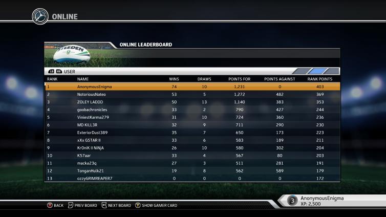 Rugby League Live 3 Screenshot 2