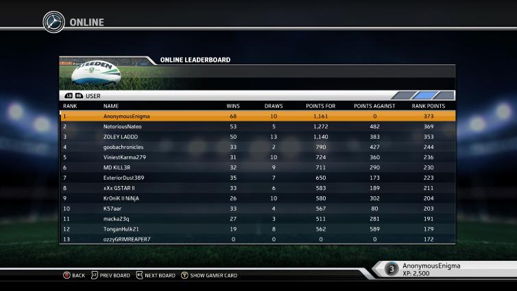 Rugby League Live 3 Screenshot 1