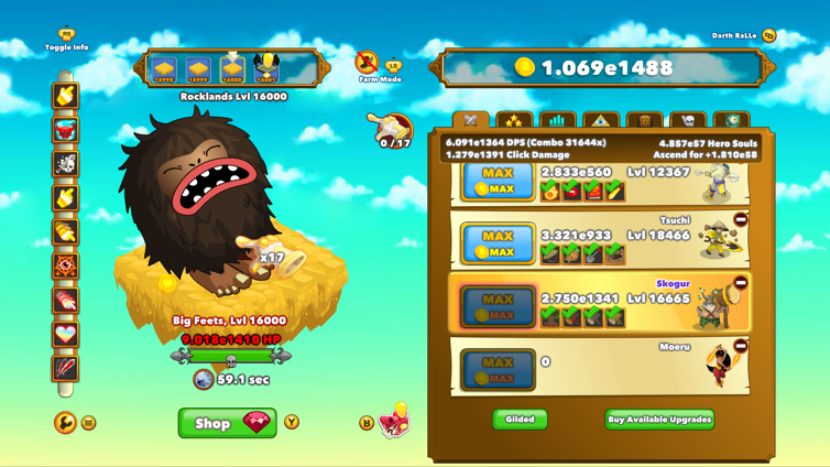 Clicker Heroes News, Achievements, Screenshots and Trailers